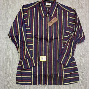 Vintage PIERRE CARDIN Striped Button Up Shirt NWT